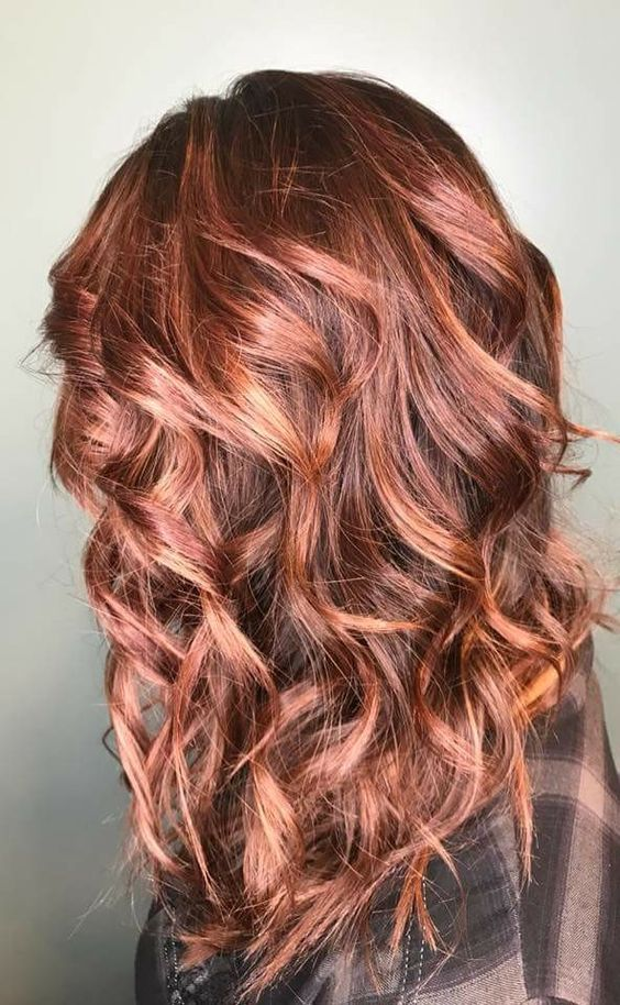 Trendy Womans Haircut Style And Hair Color Bronde Rose Gold Cinnamon