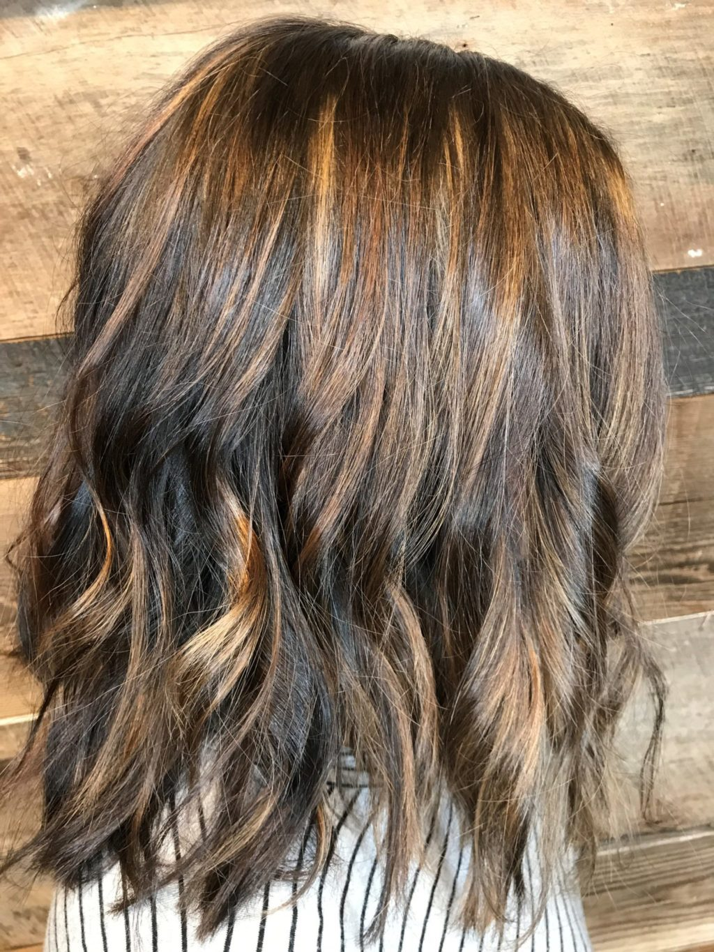 Hand Painted Hair Color With Highlights Hair Color Caramel Brunette