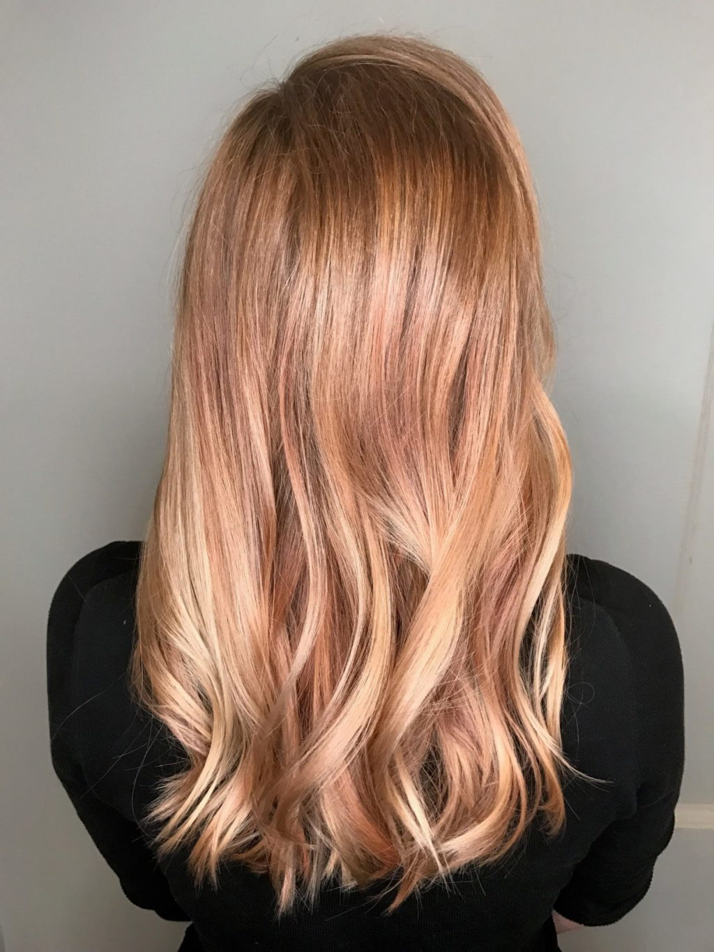 Trendy Hair Style Rooted Blondes Strawberry Rose Gold Balayage Healthy Long Ideas