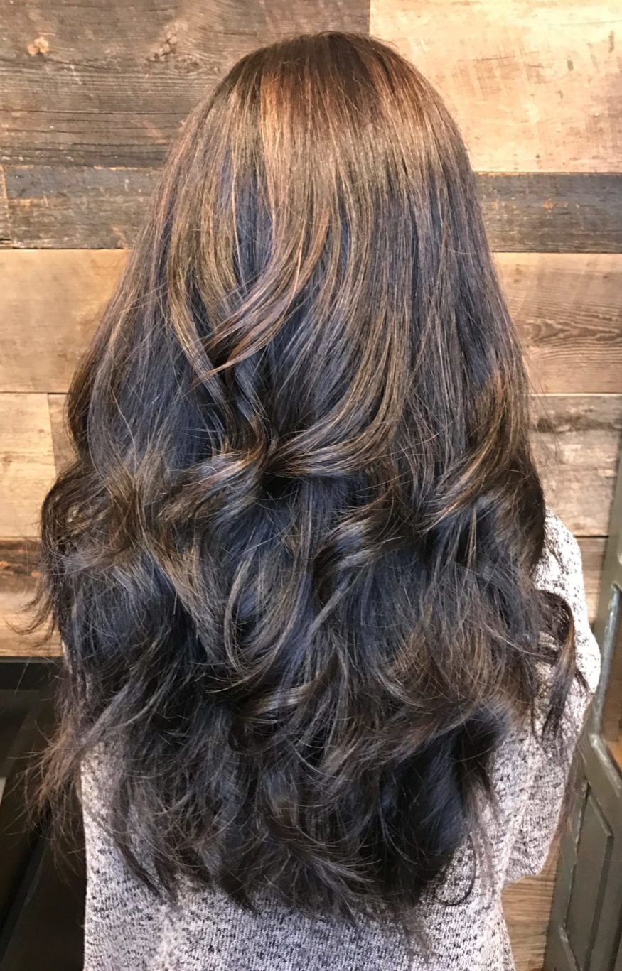 womens hair style lots of short layers long thick cut indian